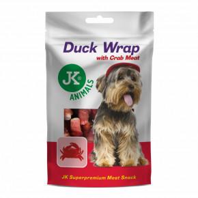 JK ANIMALS Meat Snack Duck Wrap with Crab Meat, masová maškrta | © copyright jk animals, všetky práva vyhradené