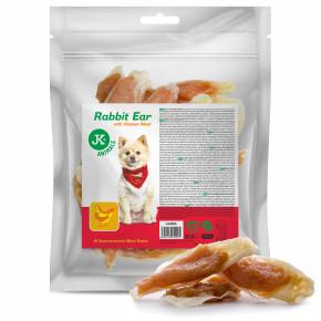 Meat Snack Rabbit Ear with Chicken meat, sušené králičie uši s kuracím mäsom, mäsová maškrta, 500g