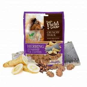 Sam's Field Crunchy Cracker Herring with Parsnip & Cloves, chrumkavá sleďová maškrta s paštrnákom a klinčekmi, 200g (Sams Field maškrta pre psov)