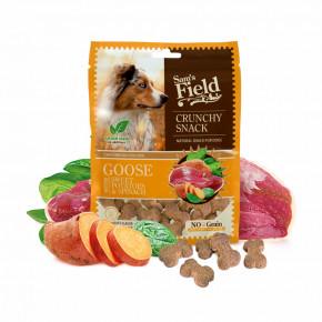 Sam's Field Crunchy Cracker Goose with Sweet Potatoes & Spinach, chrumkavá husia maškrta so sladkými zemiakmi a špenátom, 200g (Sams Field maškrta pre psov)