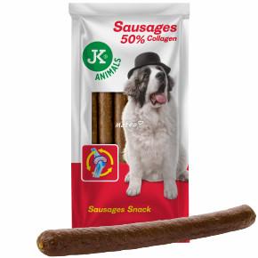 JK XS klobásy s kolagénom a slaninou (6 ks), veľkosť 2 cm × 30 cm
