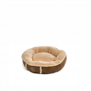 Pelech Balu S hnedý, 50 cm, pohodlný guľatý pelech pre psov