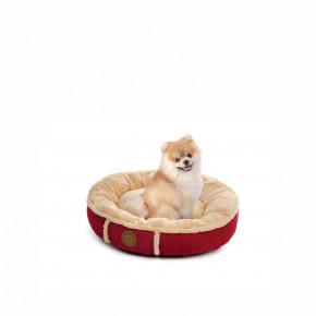 Pelech Balu S vínový, 50 cm, pohodlný guľatý pelech pre psov