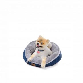 Pelech Balu S modrý, 50 cm, pohodlný guľatý pelech pre psov