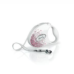 flexi Glam Splash Pink Tape (pásik), veľkosť S, biela