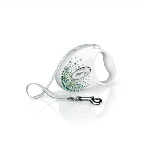 flexi Glam Splash Leaf Tape (pásik), veľkosť S, biela
