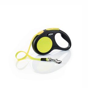 flexi New Neon pásik, veľkosť S 5m/15 kg, žltá