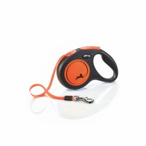 Flexi New Neon Tape (pásik), veľkosť M 5 m/25 kg, oranžová