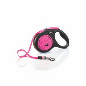 Flexi New Neon Tape (pásik), veľkosť M 5 m/25 kg, ružová