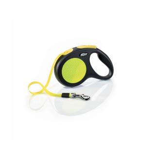 Flexi New Neon Tape (pásik), veľkosť M 5 m/25 kg, žltá