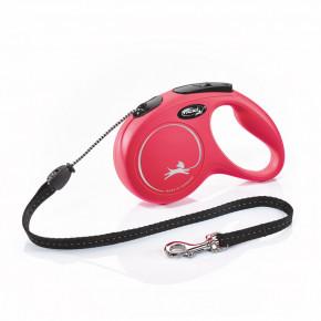 Flexi New Classic (lanko),veľkosť M 5m/20kg, červená