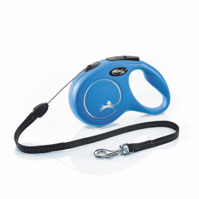 Flexi New Classic (lanko),veľkosť S 8m/12kg, modrá