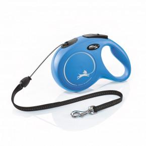 Flexi New Classic (lanko),veľkosť M 8m/20kg, modrá