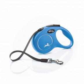 Flexi New Classic (pásik),veľkosť S 5m/15kg, modrá