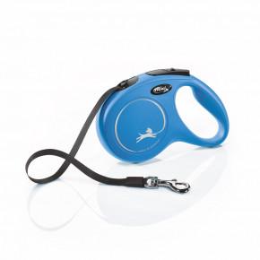Flexi New Classic (pásik),veľkosť M 5 m/25 kg, modrá