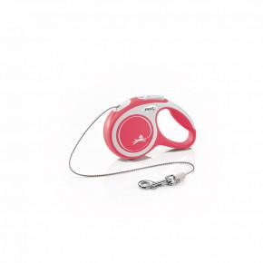 flexi New Comfort lanko, veľkosť XS 3m/8kg, červená