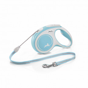 flexi New Comfort lanko, veľkosť M 5m/20kg, svetlo modré