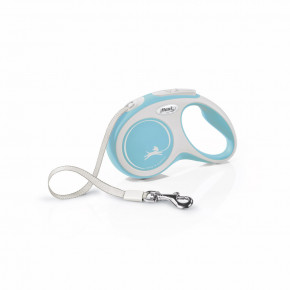flexi New Comfort pásik, veľkosť S 5m/15 kg, svetlo modrá