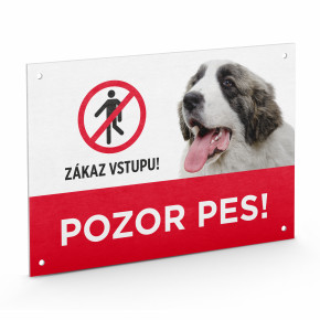"""Plastová tabuľka na plot """"POZOR PES"""""""
