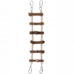 JK natural rebrík, drevená hračka pre vtáky