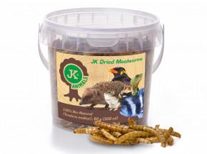 JK sušené múčne červy, JK Dried mealworms, 80g | © copyright jk animals, všetky práva vyhradené