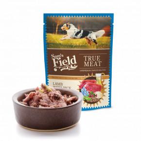 Sam's Field True Meat Lamb with Rice & Pea, šťavnaté mäsové kapsičky jahňacie mäso s ryžou a hrachom pre psov, 260g (superprémiové kapsičky pre psov)